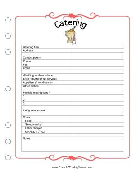 Free Printable Wedding Planning Worksheets | Beautiful Scenery ...